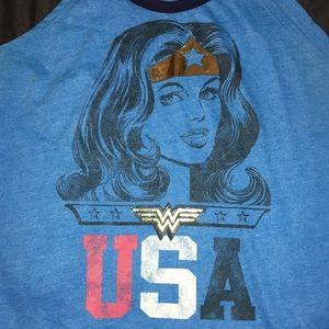 EUC Dc Comics Wonder Woman USA 🇺🇸 Retro Tank XL